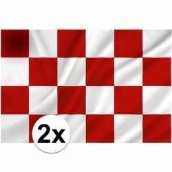 2x provincie noord brabant vlaggen 1 bij 1.5 mtr