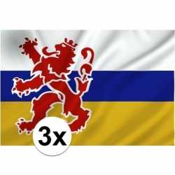 3x provincie limburg vlaggen 1 bij 1.5 mtr