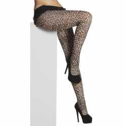40 denier panty luipaard/panter afgebeeld feest dames
