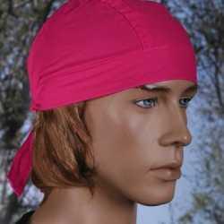 Bandana in roze kleur uni 1
