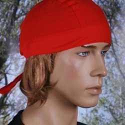 Bandana rood gekleurd uni 1
