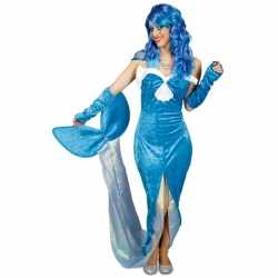 Blauw zeemeermin kleding feest dames