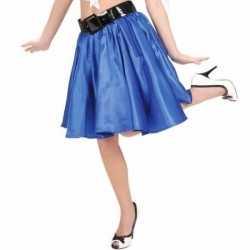Blauwe fifties rok petticoat feest dames
