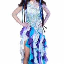 Blauwe prinses van de zee kleding