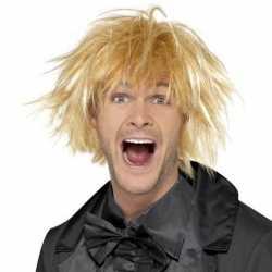 Blonde jaren 90 pruik feest heren