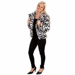 Bontjas zebra afgebeeld feest dames