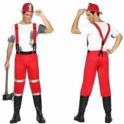 Brandweerman joe kleding bretels feest heren