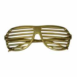 Bril gouden lamellen