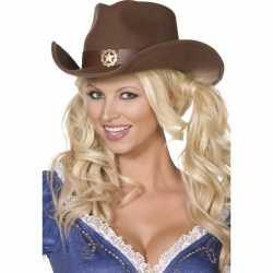 Bruine cowboy hoed feest volwassenen