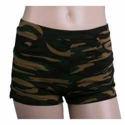 Camouflage afgebeeld hotpants feest dames