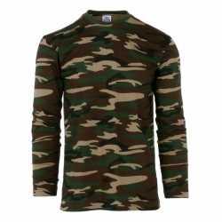 Camouflage shirt feest heren lange mouw