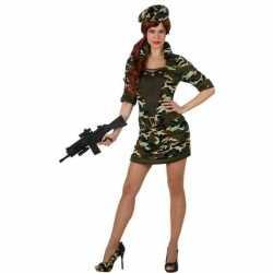 Camouflage soldaat verkleed kleding/jurk feest dames
