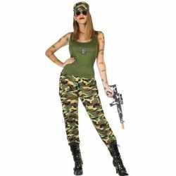 Camouflage soldaat verkleed pak/kleding feest dames