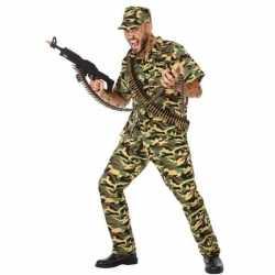 Camouflage soldaat verkleed pak/kleding feest heren