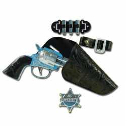 Carnavals accessoires pistool holster sheriff badge