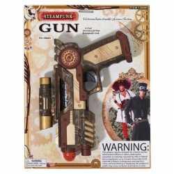 Carnavals accessoires steampunk revolver 25 centimeter