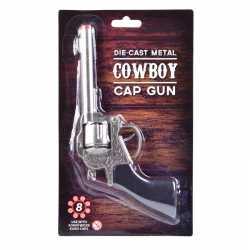 Carnavals accessoires western plaffertjes pistool 22 centimeter 8 sch