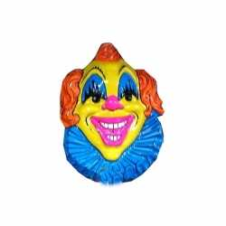 Carnavals clown feestdecoratie geel/blauw