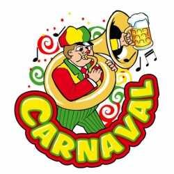 Carnavals decoratiebord muzikant 35 bij 40 centimeter