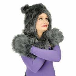 Carnavals dierenpak wolf set