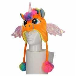 Carnavals eenhoorn muts kids oranje