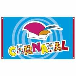 Carnavals feestdecoratie vlag 90 bij 150 centimeter