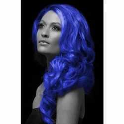 Carnavals haarverf blauw
