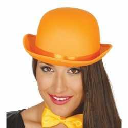 Carnavals luxe bolhoed oranje 10153025