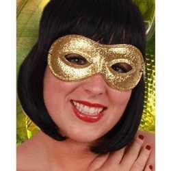Carnavals oogmasker goud