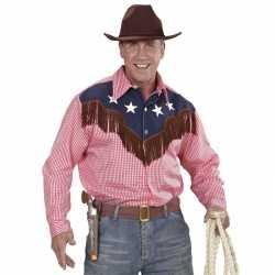 Carnavals rodeo blouse geruit feest heren