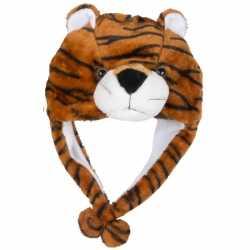Carnavals tijger muts kids