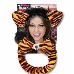 Carnavals verkleedset tijgerrin feest volwassenen