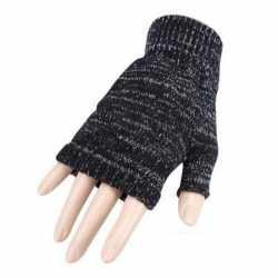 Carnavals vingerloze handschoenen grijs gemeleerd volwassenen