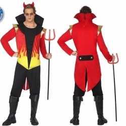 Carnavalskleding duivel vlammen