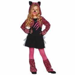 Carnavalskleding katten jurkje kids