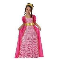 Carnavalskleding prinses roze feest meisjes