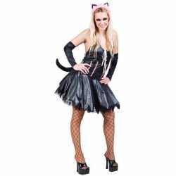 Carnavalskleding sexy kat/poes zwart
