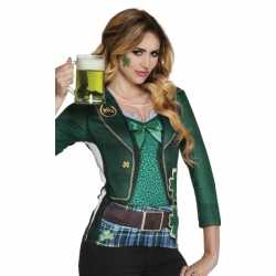 Carnavalskleding st patricks day dames shirt