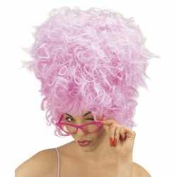 Carnavalspruik roze suikerspin feest dames
