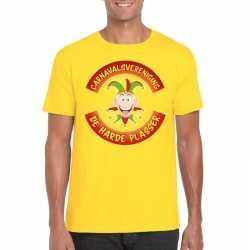 Carnavalsvereniging de harde plasser limburg heren t shirt geel