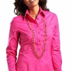 Casual fuchsia overhemd feest dames