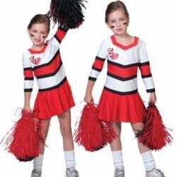 Cheerleader jurkjes rood wit