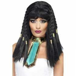 Cleopatra pruik zwart vlechtjes