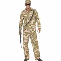 Commando verkleed kleding feest heren