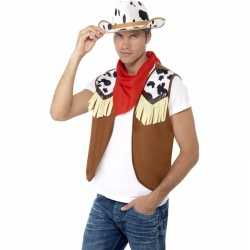 Cowboy verkleed set feest heren
