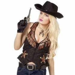 Cowboy vestje feest dames