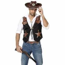 Cowboy vestje feest heren