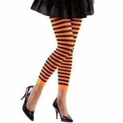 Dames legging oranje zwart