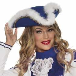 Dansmarietje blauwe hoed feest dames
