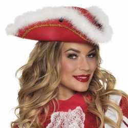 Dansmarietje rode hoed witte rand